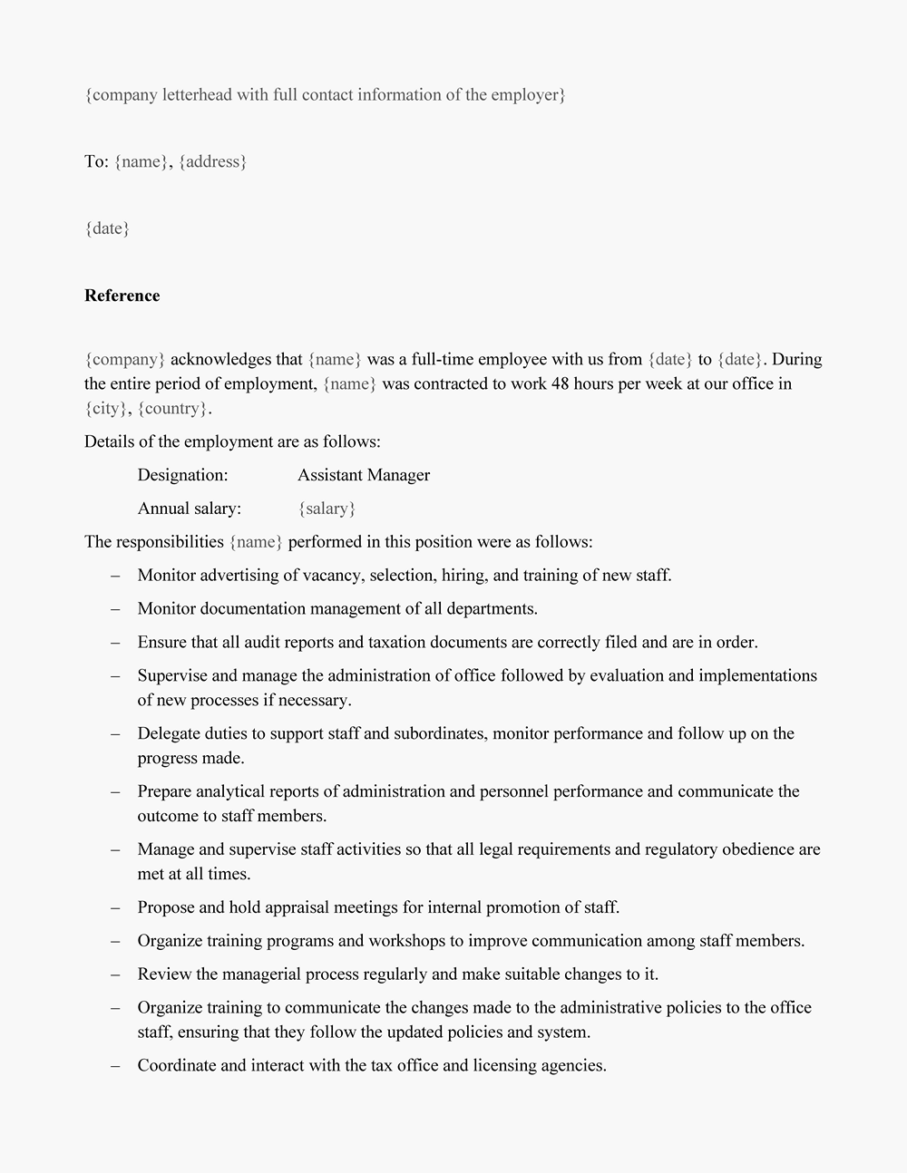 Reference Letter Sample For Employment from lptoronto.com